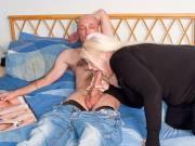 Blonde plumper nails husband