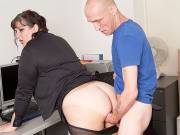 Heavy girl banged in office