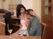 Juicy wife enjoys cuckolding