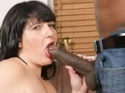 Fat ass slut hooks up with a guy