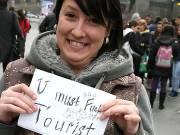 BBW fucks a tourist in her house