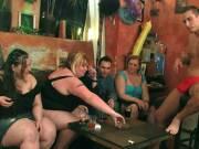 Six people in a wild BBW fuck fest