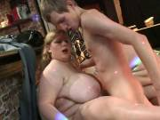 BBW friends get drunk and have party