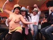 Fatties have fun at a wild drunken party